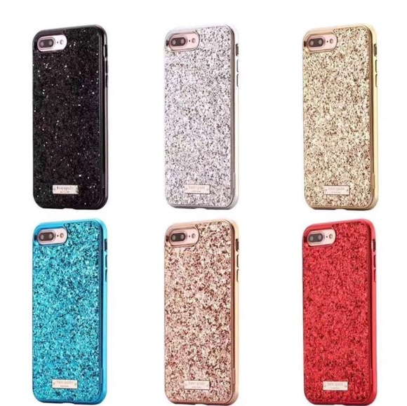 iphone 8 plus case glitter gems flip